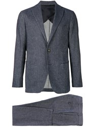 Doppiaa Denim Effect Two Piece Suit Blue
