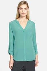 Trouve Silk Blouse Green