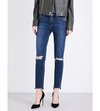 Paige Denim Hoxton Ankle Peg Skinny High Rise Jeans Dedee Destructed