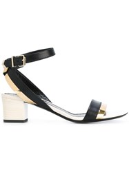 Lanvin Block Heel Sandals Black