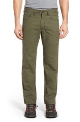 Prana Men's 'Bronson' Straight Leg Stretch Canvas Pants Cargo Green