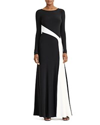 Ralph Lauren Contrast Stripe Gown Black Light White