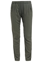 Bik Bok Isabel Trousers Dark Green