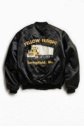 Urban Outfitters Vintage Yellow Freight Satin Club Jacket Black