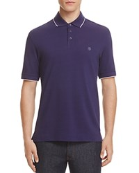 Z Zegna Piquet Slim Fit Polo Purple