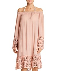 Muche Et Muchette Miles Off The Shoulder Dress Swim Cover Up Natural