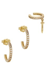 Joanna Laura Constantine Gold Plated Earring And Cuff Set