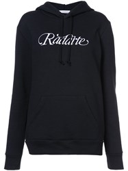 Rodarte Embroidered Logo Hoodie Black