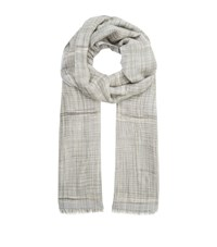 Eskandar Madder Plaid Cashmere Scarf Female Grey