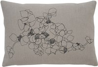 K Studio Vines Pillow Series Kudzu Pillow Gray
