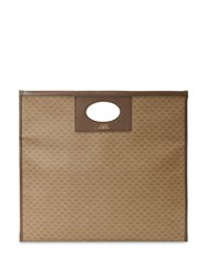 Gucci Shopper In Mini Gg Supreme Fabric Neutrals