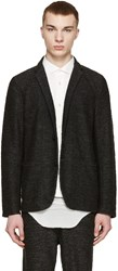 Robert Geller Grey Knit Richard Blazer