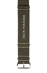Men's Jack Mason Brand Nylon Nato Strap 22Mm Green