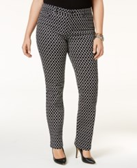 Charter Club Plus Size Printed Skinny Jeans Only At Macy's Deep Black Combo