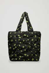 Cos Glow Print Padded Tote Bag Black
