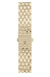 Women's Michele 'Deco' 18Mm Gold Plated Bracelet Watchband Gold