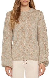 Willow And Clay Women's Tie Back Sweater Beige