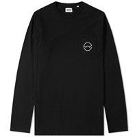 Edwin Long Sleeve Pocket Logo Type 4 Tee Black