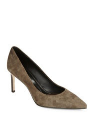 Elie Tahari Destray Suede Pumps Olive
