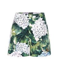 Dolce And Gabbana Cotton Shorts With Applique Multicoloured