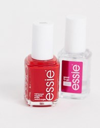 Essie Winter Wonderland Duo Kit Bordeaux Good To Go Top Coat Multi