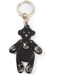 Gucci Embellished Teddy Bear Key Chain Black