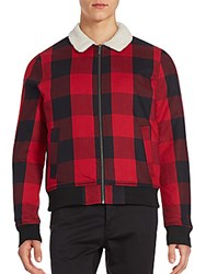Original Penguin Checkered Cotton Jacket Jester Red