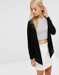 Soaked In Luxury Nelli Draped Front Cardigan 050 Black