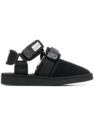 Suicoke Buckled Slippers Black