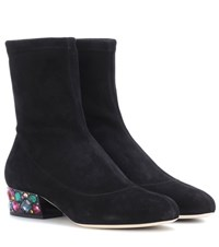 Jimmy Choo Maisie 35 Suede Ankle Boots Black