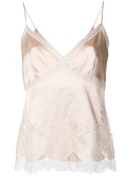 Ermanno Scervino Embroidered Top Nude And Neutrals