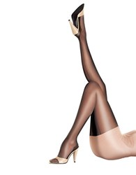 Pretty Polly Sheer Gloss Back Seam Tights Black
