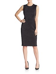 Karl Lagerfeld Crystal Studded Front Dress Black