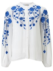 Alice By Temperley Somerset Embroidered Shirt White