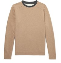 Oliver Spencer Robin Fleece Back Cotton Jersey Sweatshirt Tan