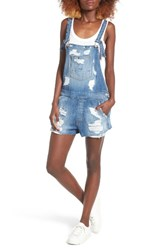 Hudson Jeans Women's Florence Rip And Repair Short Denim Overalls