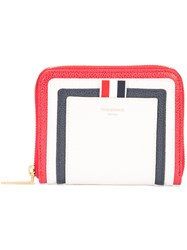 Thom Browne Zip Around Wallet Women Leather One Size White