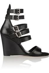 Maje Buckled Leather Sandals