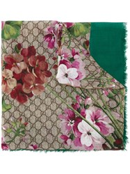 Gucci 'Gg Blooms' Scarf Green