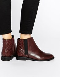 Asos Alaska Wide Fit Leather Ankle Boots Oxblood