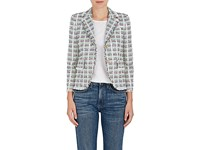 Thom Browne Women's Tweed Blazer White Red Blue Yellow Green Black No Color