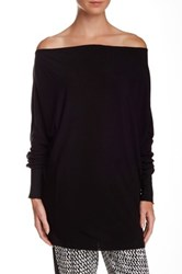 Alice Olivia Boatneck Slouchy Long Sleeve Blouse Black