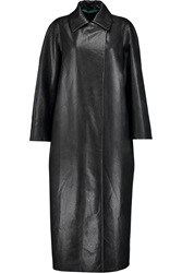 Emilia Wickstead Faux Leather Coat Black