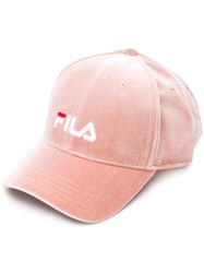 Fila Logo Embroidered Cap Pink And Purple