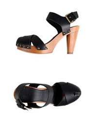 Local Apparel Platform Sandals Black
