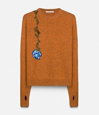 Christopher Kane 'Lost And Found' Crew Neck Jumper Yellow And Orange
