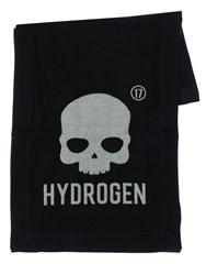 Hydrogen Icon Logo Wool Scarf Black