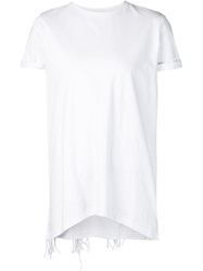 Rta Fringe Back T Shirt White
