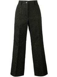 Dries Van Noten Brocade Cropped Trousers Black
