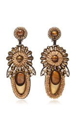 Ranjana Khan Floral Bead Earrings Gold